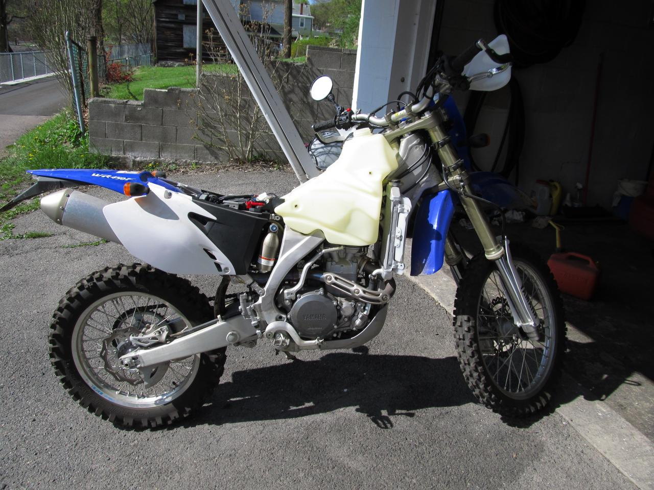 yamaha wr 450 road use