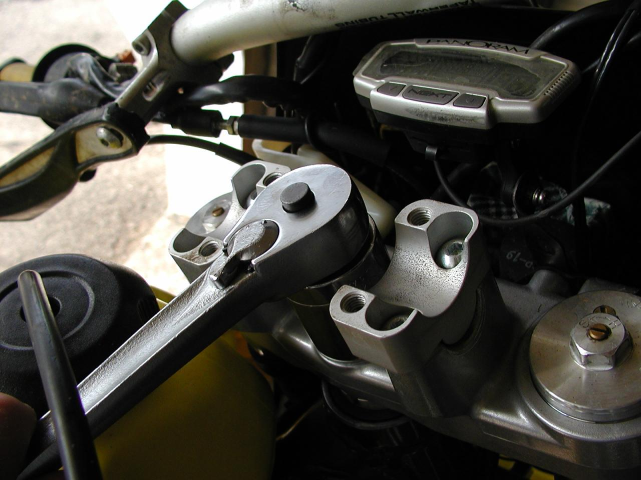 15 Minute Drz400 Steering Head Repack Pegmonkey Fitting Wiring For Brake Light Front And Rear Need Help Drz 400 P7102832